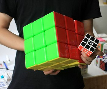 Vendita Calda 3X3X3 Cubo di 18 Centimetri Super Grande 9 Centimetri 7 Centimetri 6 Centimetri di Puzzle Magico 3X3 Cubo Magico Professionale Giocattolo Educativo per Il Capretto Migliore Regalo