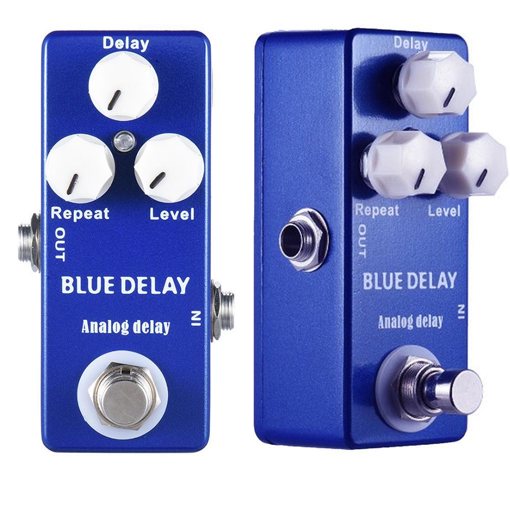 Mini efeito de guitarra pedal analógico atraso motim distorção overdrive faz efeitos true bypass guitarra peças & acessórios