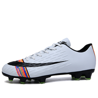 Men Football Soccer Boots Athletic Soccer Shoes 2018 New Leather Big Size High Top Soccer Cleats Training Football Sneaker|Soccer Shoes|   -