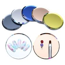 Mirror Glass False Nail Tips Display Board Color Palette Practice Showing Shelf Nail Art Manicure Tools UV Gel Polish(China)