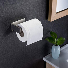 Toilet Paper Holder Wall Mount Stainless Steel Bathroom Kitchen Roll Tissue Hot Towel Rack Durable Clip