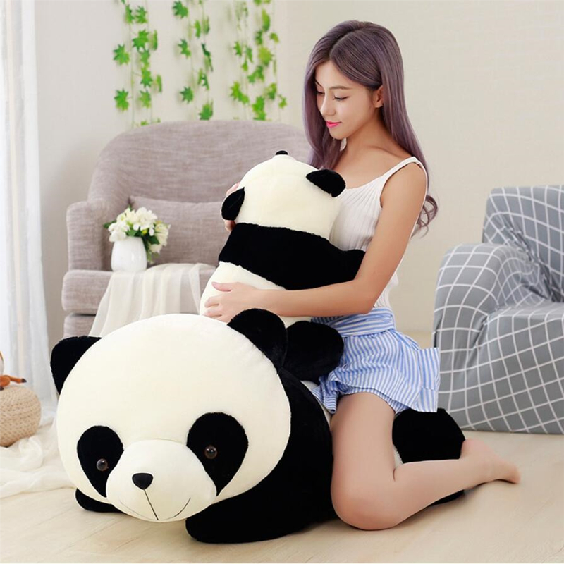 Cute Baby Big Giant Panda Bear Plush Stuffed Animal Doll Animals Toy Pillow Cartoon Kawaii Dolls Girls Christmas Gifts
