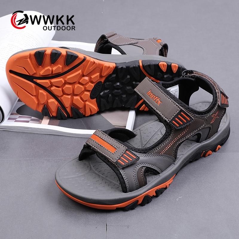 WWKK/мужские сандалии; Новая мужская обувь; Легкие Повседневные Дышащие Нескользящие уличные сандалии; пляжная обувь с амортизацией