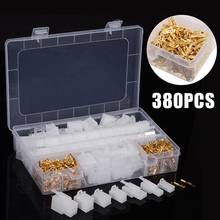 380Pcs/set Practical Car Electrical 2.8mm 2 3 4 6 Pin Wire Terminal Connector Fixed Hook Male Female Terminals Kit