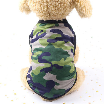 Camouflage Pet Vest 2021 Summer Mesh Breathable Dog T-shirt Sleeveless Clothing For Small Medium Dogs Fruit Print Pet Clothes image