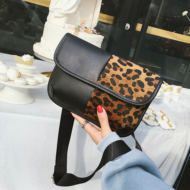 2019 New Trend Women Casual Bags leopard print shoulder Bag Ladies Classical Messenger Bag Fashion Hasp Clutch Female Coin purse