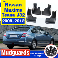 Car Mud Flaps For Nissan Maxima (Australia) Teana J32 2008-2012 Mudflaps Splash Guards Flap Mudguards Fender 2009 2010 2011