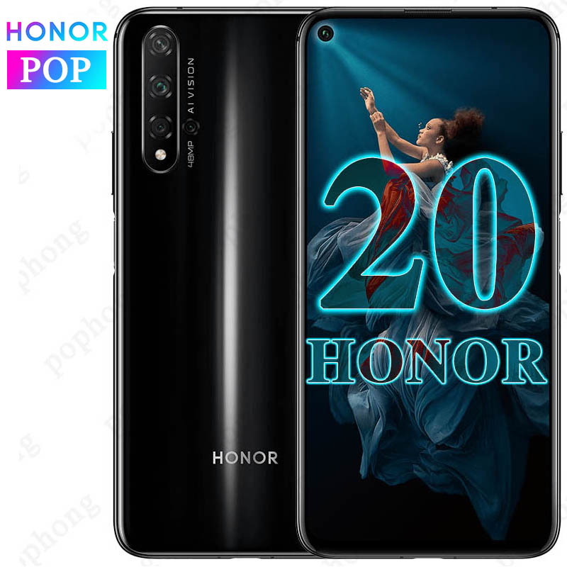 Original HONOR 20 Mobile Phone 8GB 128GB 6.26 Inch Kirin 980 Octa Core Android 9.0 NFC Face Unlock SuperCharge