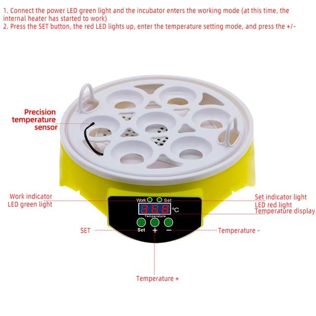 7 Egg Automatic Incubator Poultry Hatchery Machine Brooder Digital Chicken Duck Bird Temperature Control Chicken Hatcher 30% off 2
