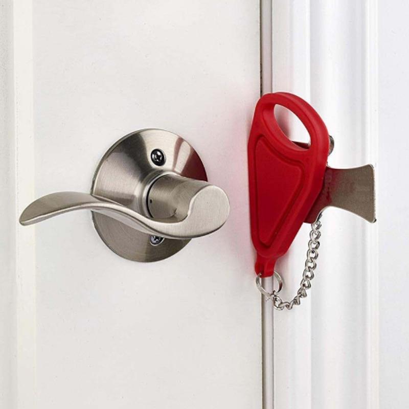 Self-Defense Door Stop Portable Hotel Door Lock Locks Travel Door Stopper security buckle temporary