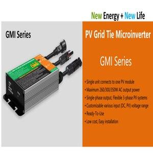 Микро сетевой Инвертор 350 Вт/300 Вт/260 Вт, MPPT, водонепроницаемый, класс защиты IP65, переменный ток 120В/230 В, 50/60 Гц, серия GMI