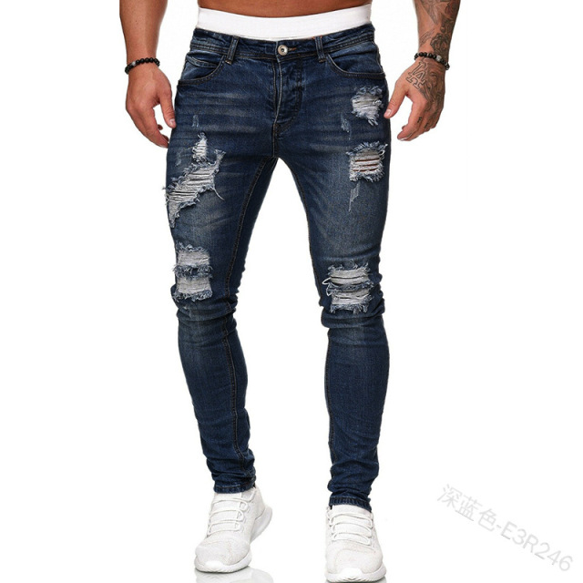 Distressed Stretch Slim Fit Jeans 6