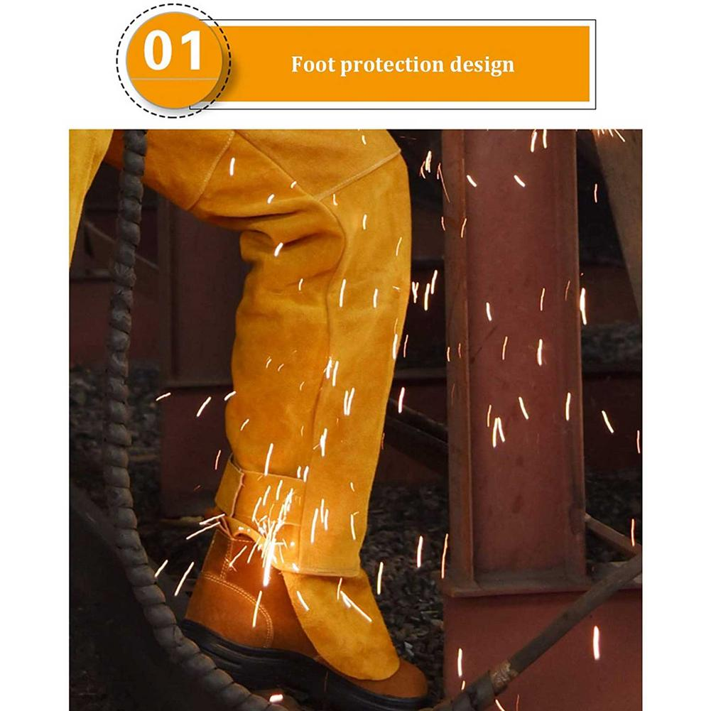 Welding Clothing Resistant Retardant Male Suit Heat Cowhide Flame And Clothing High Welding Proof Neck Splash