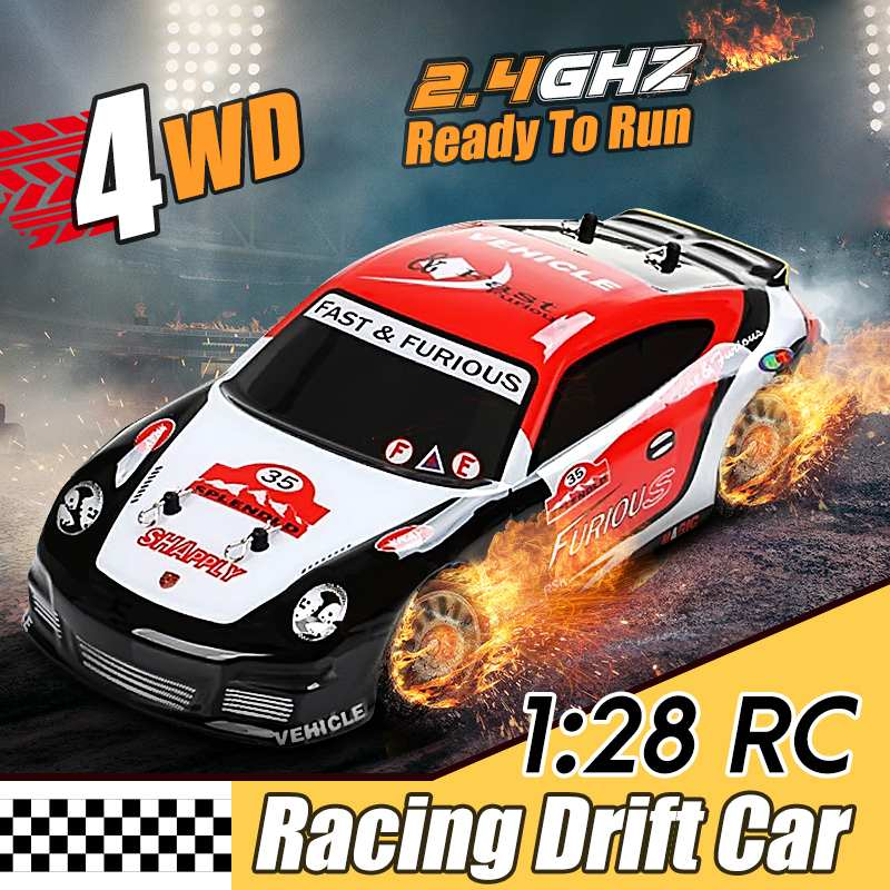 1:28 Wltoys K969 RC Car 2.4G 4WD 4CH Crawler  Brushed Drift Car Remote Control Car Model Racing Cars Toy For Children