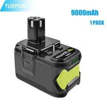 Сменный аккумулятор Turpow для электроинструментов Ryobi 18 в 6000 мАч 9000 мАч P108 аккумулятор RB18 литий-ионный перезаряжаемый аккумулятор