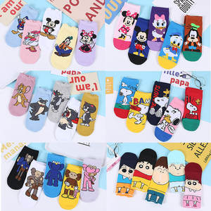 Woman's-Socks Short Mickey Mouse Ankle-Low Girls Disney-Series 5pairs Cotton Summer Fashion