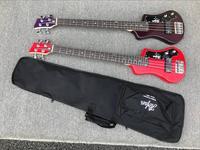 free shipping purple bass hofner shorty bass 4 Strings custom hofner mini travel bass red color bass guitar