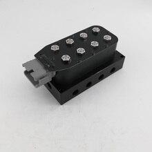 """Pneumatische schokdemper 1/4 """"AA VU4 8 hoek valve unit, luchtvering magneetventiel blok Met 5m Kabel plug en controller"""