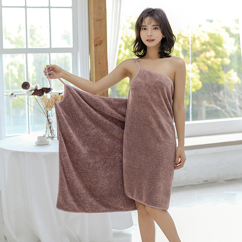 Bathing Towels Microfiber Bath Robe Women Towels Bathroom Home Textile Absorbent Shower Towel Women Robe Bath Wearable Towel Set