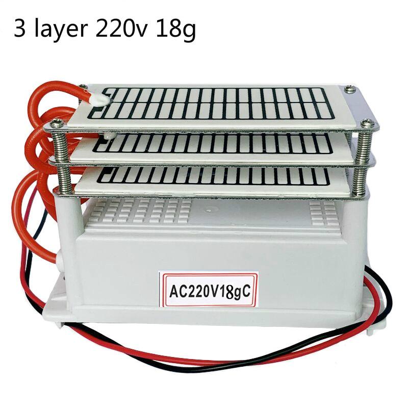 Generador de ozono 220v purificador de aire 18g 18000mg 3 capas Placa de ozono eliminador de olores ozonizador 3 unids/lote OEM de alta calidad, reemplazo AC4121 + AC4123 + AC4124 kit de filtros para Philips AC4002 AC4004 AC4012 purificador de aire partes