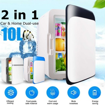 220V 12V 10L Home Refrigerators Ultra Quiet Household Refrigerators Freezer Cooling Heating Fridge