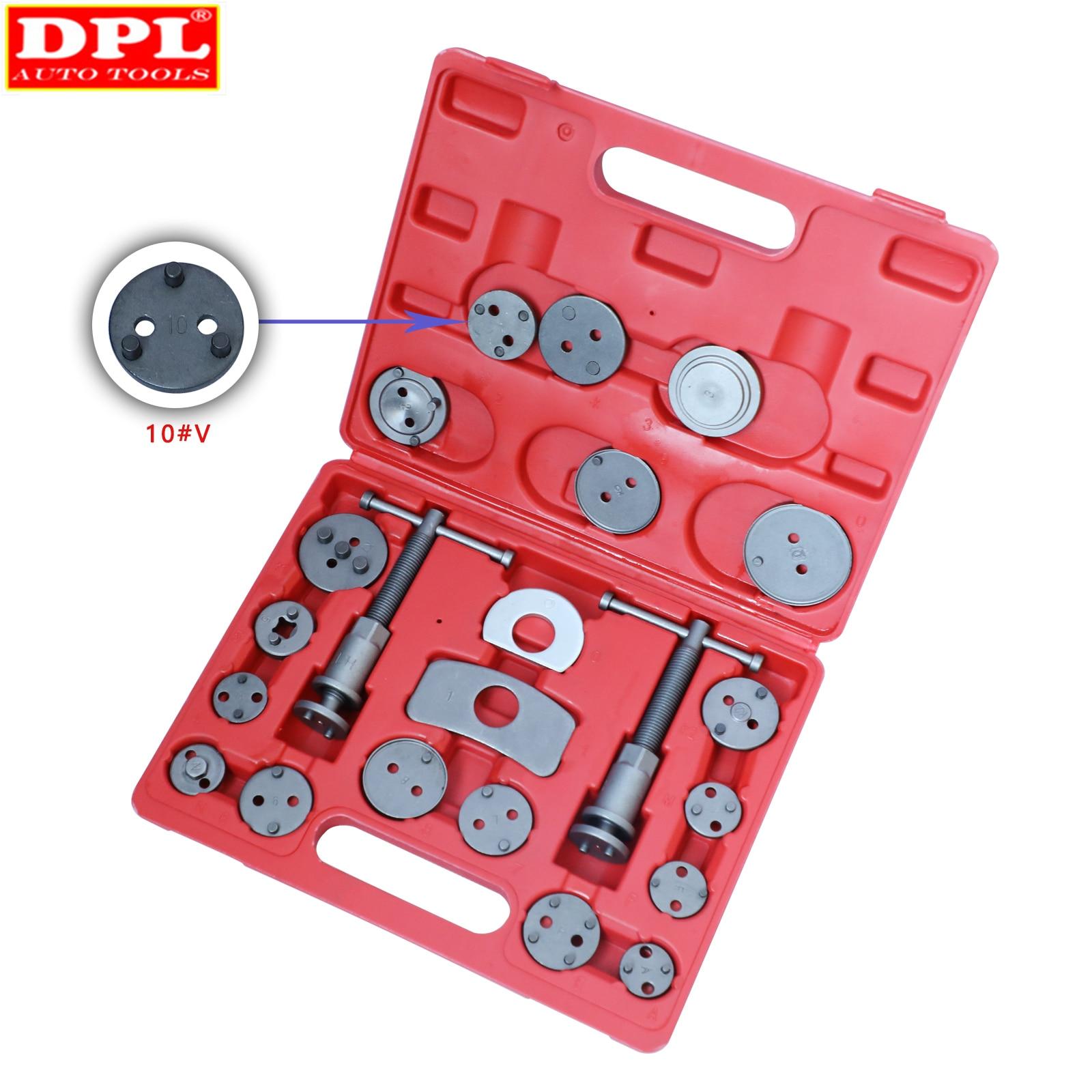 22pcs Universal Car Disc Brake Caliper Wind Back Brake Piston Compressor Tool Kit For Most Automobiles Garage Repair Tools Super Offer C84fe Cicig