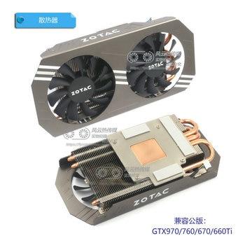 Neue Original für ZOTAC GTX970 4GB Graphics Grafikkarte kühler kühler Kompatibel Öffentlichen Version gtx970 gtx760 gtx670 gtx660ti