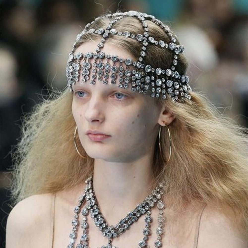 Женская Хрустальная цепочка на голову Stonefans, свадебные аксессуары, стразы, цепочка для волос, украшения для волос