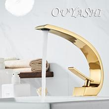 OUYASHI modern bathroom basin faucet mixer water tap single handle hole elegant