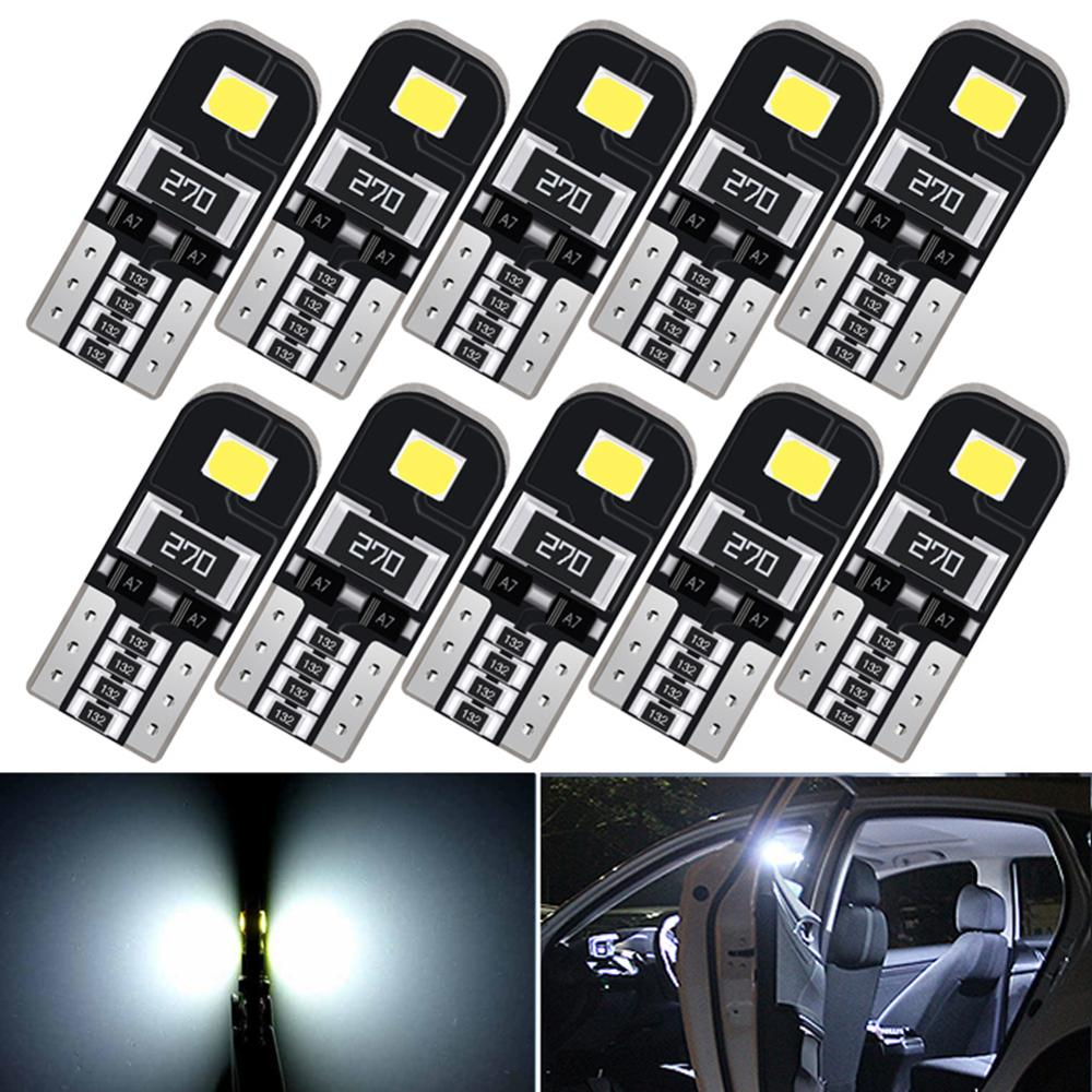 10Pcs <font><b>T10</b></font> W5W <font><b>LED</b></font> <font><b>Canbus</b></font> Light Bulbs Car Interior Dome Light Trunk Lamp Parking Lights Error Free 12V for Audi BMW <font><b>VW</b></font> Mercedes image