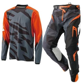 Gorący zestaw narzędzi do rowerów górskich Motocross Jersey i spodnie garnitur jazda motocyklem Racewear MX Combo rozmiar S-XXL tanie i dobre opinie Mężczyźni Poliester i bawełna