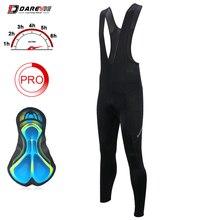 Брюки для велоспорта DAREVIE, мужские длинные штаны с гелевой подкладкой для велосипеда, крутые дышащие штаны для велоспорта, быстросохнущие о...