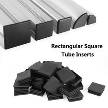цена на 10/50 Pcs/lot 50x50/50x100 Mm New Black Plastic Blanking End Caps Square Inserts For Tube Pipe Box Section Wholesales