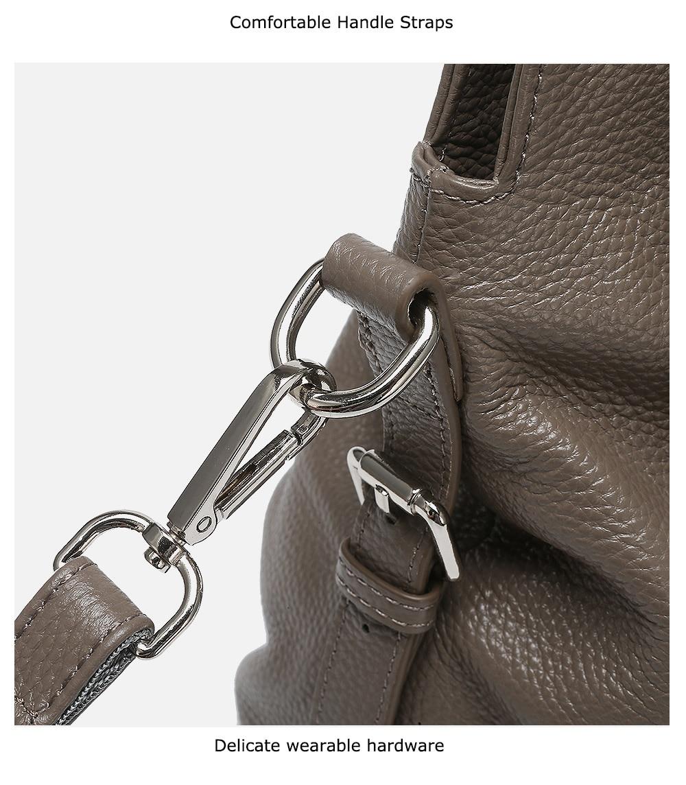 Zency bolsa de ombro feminina feita de