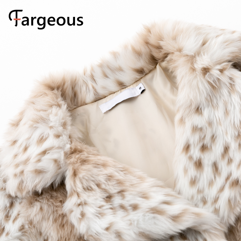 Image 5 - Leopard Luxury Faux Fur Coat Jacket 2019 Winter Warm Long Fur  Fluffy Teddy Jacket Fashion Streetwear Shaggy Coat OuterwearFaux Fur