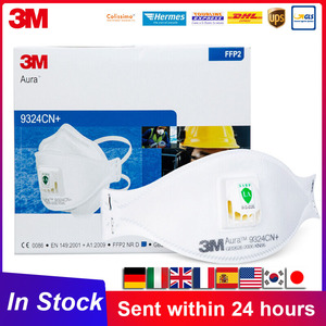 FFP2 3M Aura 9324 9324CN Mascarilla KN95 avec bandeau de Valve réutilisable KN95 masque de protection contre les particules respirateurs 3M 9324CN +