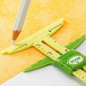Ferramenta de costura de medição deslizante de 5 em 1 (dois tamanhos)
