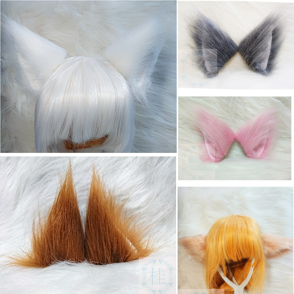 New Arrival Girl's Cartoon Cute Furry Anime Cosplay Costume Cat Fox Ears Prop Headband Hairband For Cosplay Party