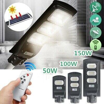 LED Solar Lamp Street Light 60W/90W/150W LED Solar Light Radar PIR Motion Sensor Timing Lamp+Remote Waterproof For Plaza Garden