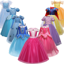 Girls Princess Dress Halloween Costume Birthday Party Clothing for Children Kids Vestidos