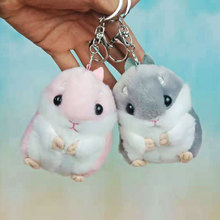 Hamster Stuffed Toy Latchkey Fastener Gift Keychain Year Of The Rat Mascot Action Figure Girl Heart Doll Keyring Woman Cute japan genuine 2019 new year cute kawaii mascot zodiac lucky blessing pig cat figure decortion desktop