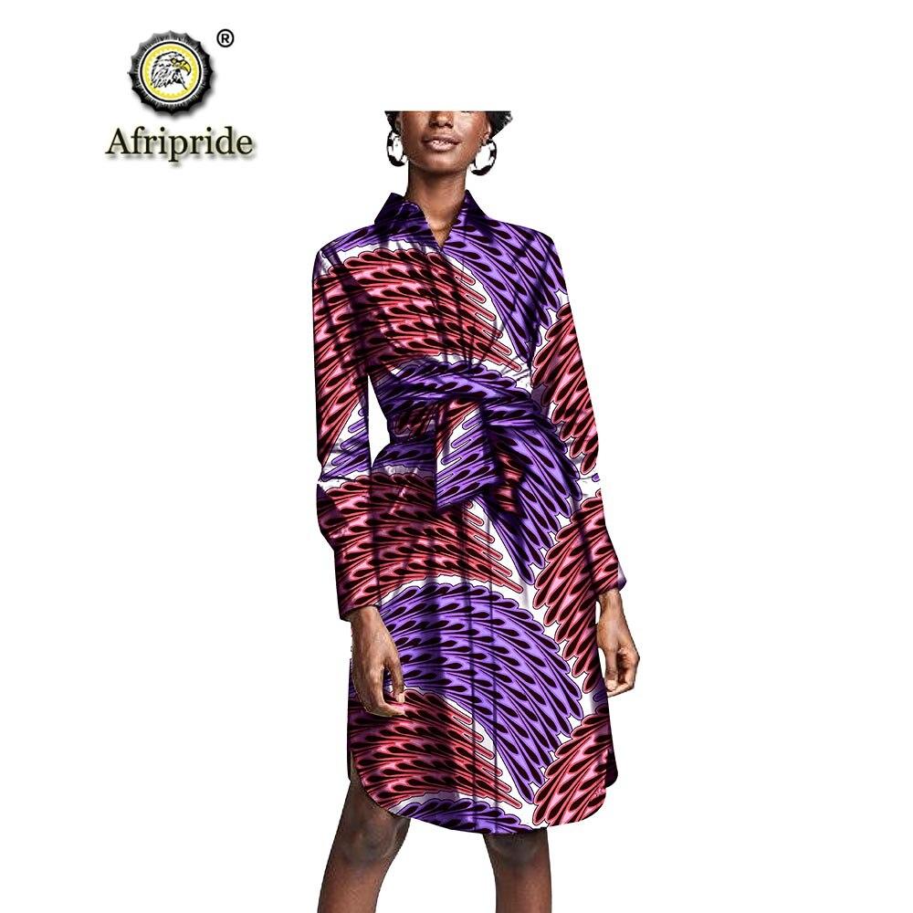 2019 robes africaines pour femmes AFRIPRIDE bazin riche ankara imprimer pur coton privé personnalisé cire batik printemps et automne S1825094