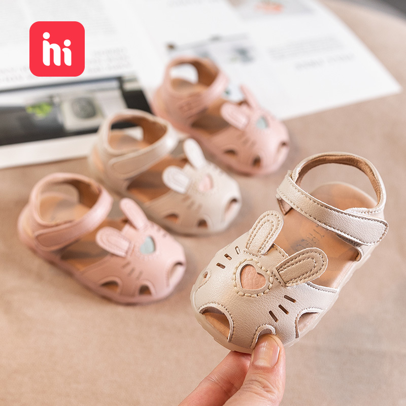 Baby Girls Shoes Cool Shoes 1-2-Year-Old Toddler Shoes Summer Infant Soft-Sole Small Children Princess Closed-toe Shoe