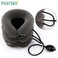 Luft Aufblasbare Halskrause Hals Traktion Traktor Unterstützung Massage Kissen Schmerzen Relief Entspannen Gesundheit Care Neck Kopf Bahre