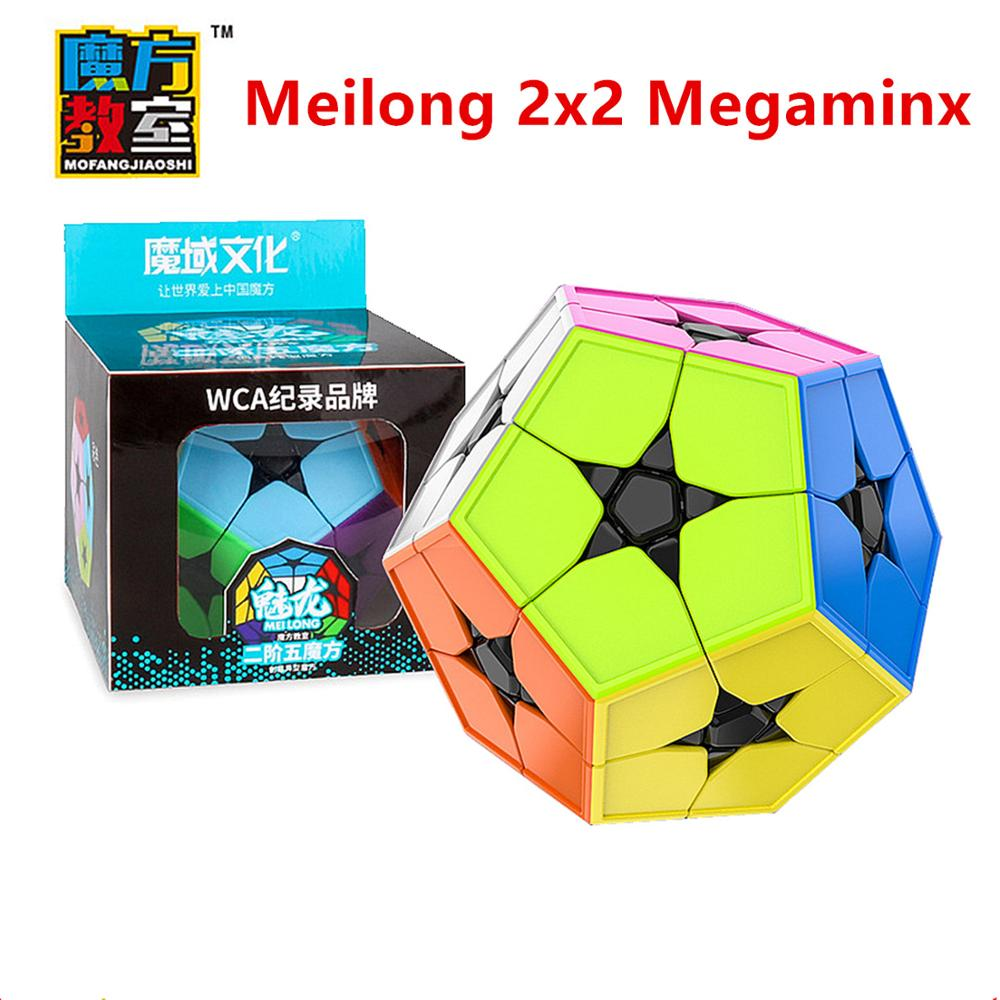 MoYu Meilong 2x2x2 Megaminxeds Magic Cube MEILONG 2X2 Speed 12- Sides Magic Cubo MOYU 2x2 Megaminxeds  Puzzle Cube
