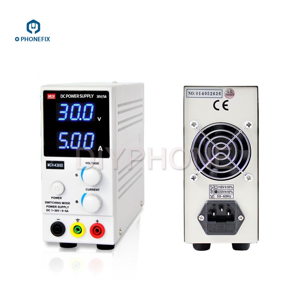 PHONEFIX Adjustable DC Power Supply For Phone Repair MCH-K305D MCK-K303D SMPS Single Channel 0-30V 0-3/5A Mini DC Power Supply