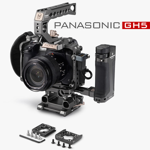 Image 1 - Tilta DSLR تلاعب هيكل قفصي الشكل للكاميرا لباناسونيك Lumix GH5 GH5S gh4 تلاعب عدة TA T37 A G مقبض علوي الجانب التركيز