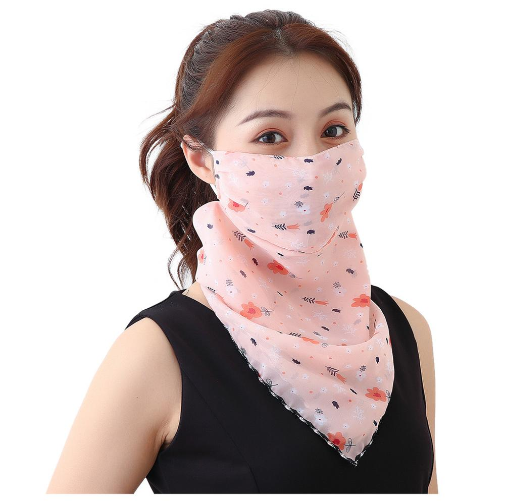 Women's Protective Washable Cotton Scarf Mask 3