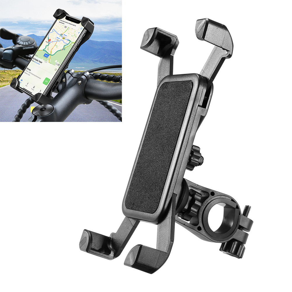 Bike Phone Holder Universal Bicycle Motorcycle Handlebar Rack Mount 360 Rotatable Bicycle Phone Holder for iPhone X Samsung