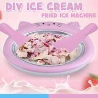 Sommer Mini Cartoon Eismaschine Gebraten Joghurt Maschine Für Kinder lustige Cooer Eis Machen Eis Rolle Maschine